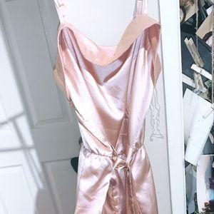 Pink silk jumper